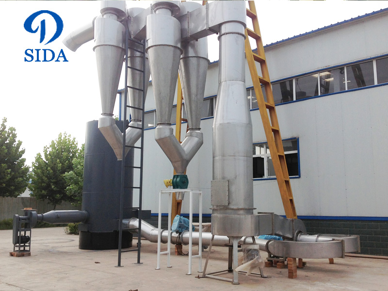 Potato starch air-stream drying machine
