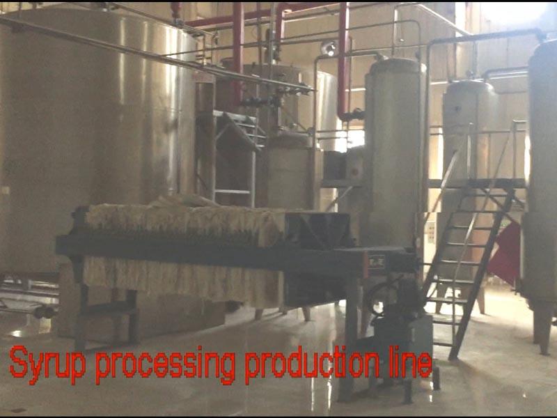Cassava starch processing line machinery runing video-corn