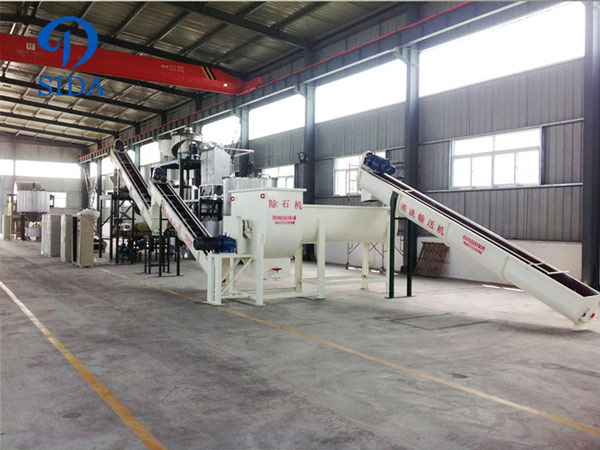 Potato starch processing line