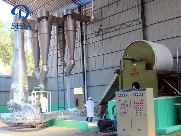 Cassava starch air-stream drying machine