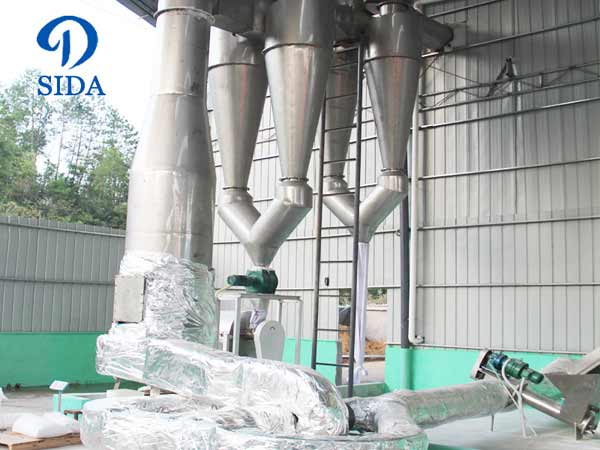 Cassava flour air-stream drying machine